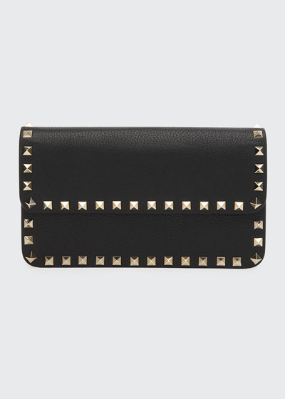 dbc9d34b8984e Rockstud Leather Wallet On A Chain Quick Look. Valentino Garavani