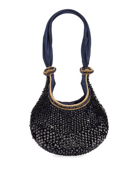 2143242472ec Bea Valdes Bella Jeweled Satin Clutch Bag