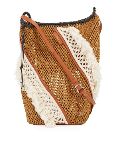 Marlee Open Weave Hobo Bag