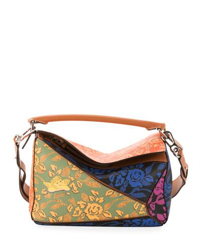 x Paula's Ibiza Patchwork Puzzle Satchel Bag