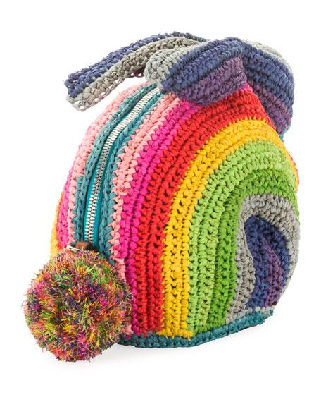 x Paula's Ibiza Rainbow Bunny Mini Crossbody Bag