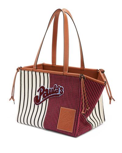 x Paula's Ibiza Stripes Cushion Tote Bag  Red/White