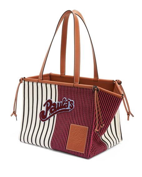 Loewe x Paula's Ibiza Stripes Cushion Tote Bag,
