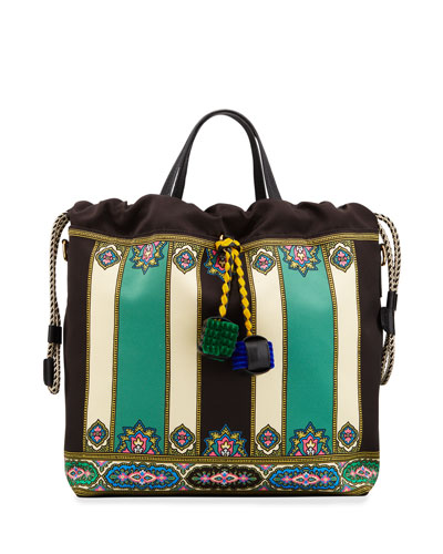 Duchesse Etro Satin Tote Bag