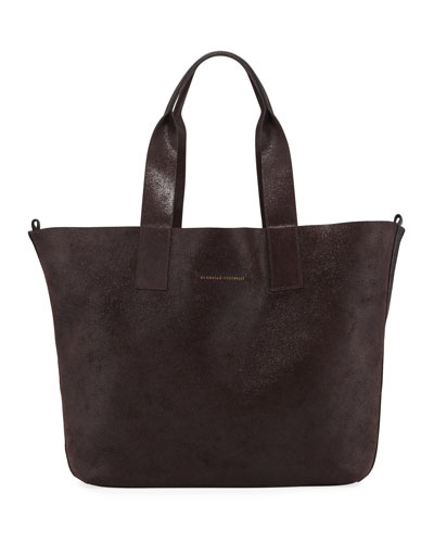Large Reversible Shopper Tote Bag