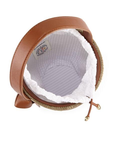 Woven Lunchpail Drawstring Bucket Bag
