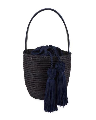Woven Party Pail Mini Bucket Bag