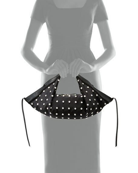 Pearl Luna Mini Studded Hobo Bag