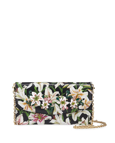 d0df698e8dc Floral-Print Crossbody Wallet on Chain Quick Look. Dolce & Gabbana
