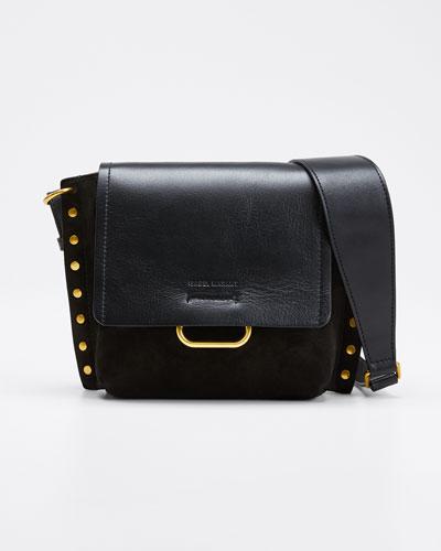 Kleny Leather Studded Shoulder Bag