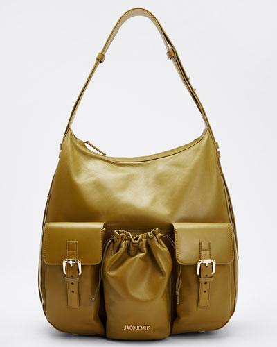 Goat Leather Hobo Bag