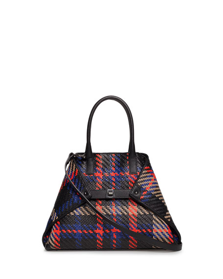 Akris Ai Small Braided Leather Tote Bag