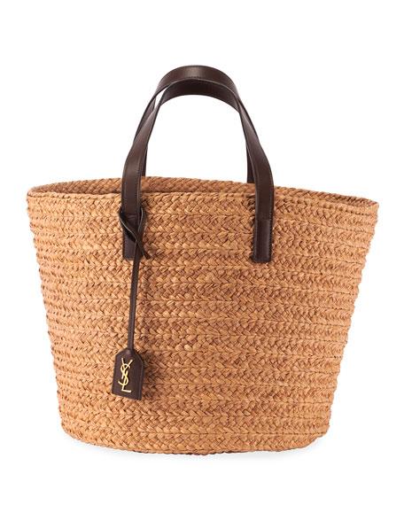 Panier Raffia Basket Tote Bag