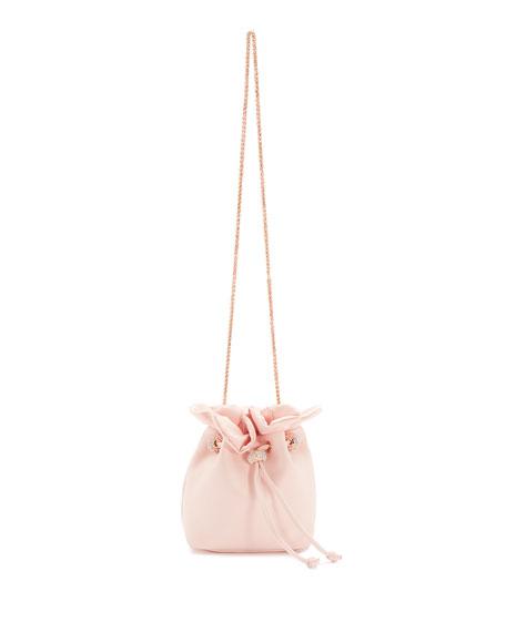 Emmie Satin Drawstring Shoulder Bag