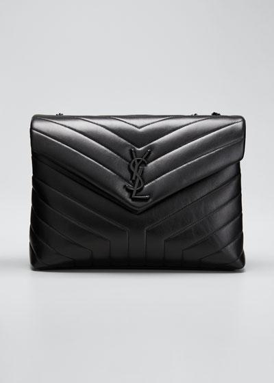 Loulou Medium YSL Monogram Matelasse Calfskin Shoulder Bag