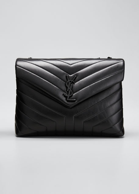 Saint Laurent Loulou Medium YSL Monogram Matelasse Calfskin