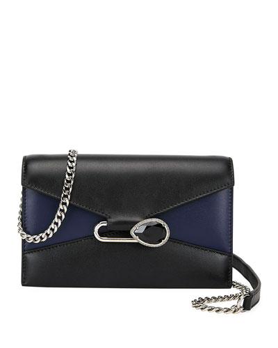 Mini Pin Two-Tone Leather Shoulder Bag