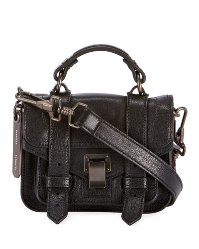 PS1 Micro Lux Leather Crossbody Bag  Black