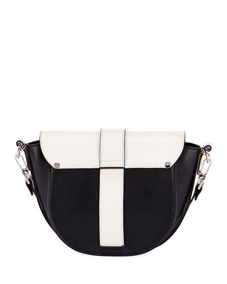Ps1 Two-Tone Saddle Shoulder Bag