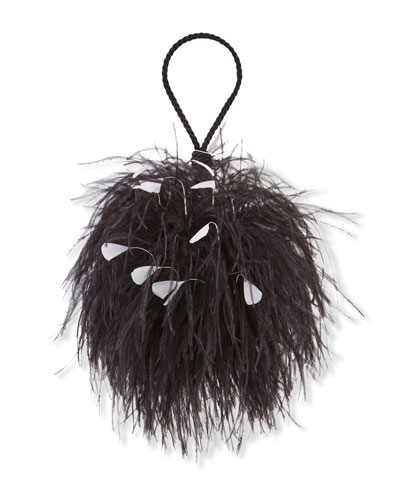 Billard Faux-Feather Clutch Bag