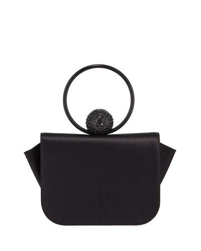 Celeste Satin Evening Clutch Bag