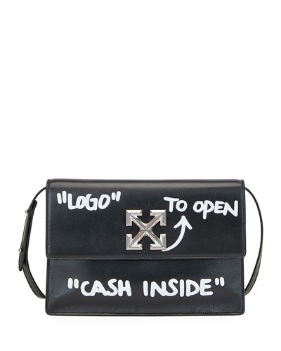 Jitney Cash Inside Top Handle Bag  Black/White