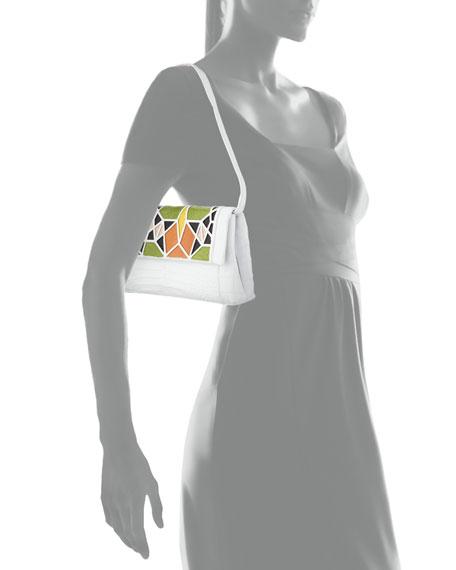 Gotham Crocodile Patchwork Clutch Bag