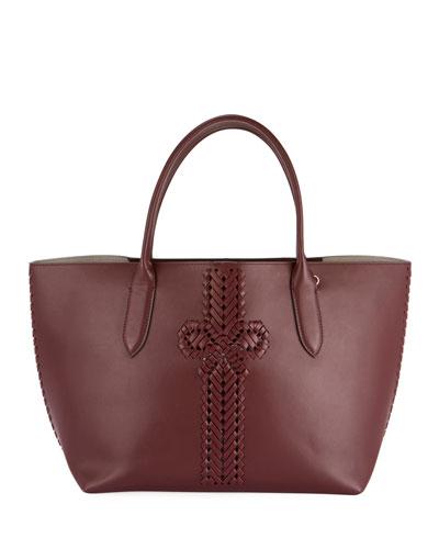 The Neeson Smooth Tote Bag  Burgundy