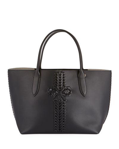 The Neeson Smooth Shopper Tote Bag  Black