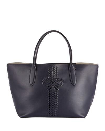 The Neeson Shopper Tote Bag  Dark Blue
