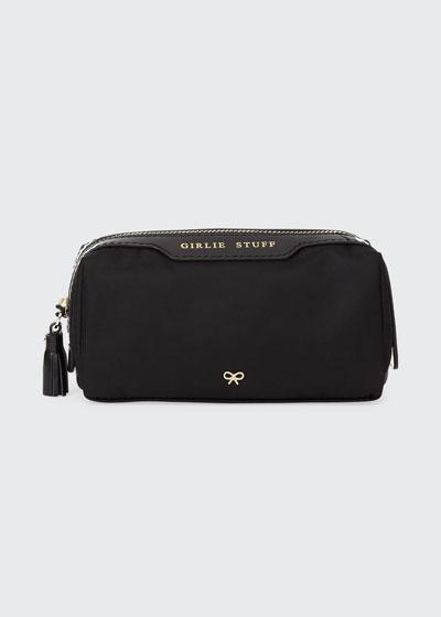 Girlie Stuff Nylon Cosmetics Bag  Black