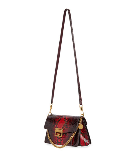 GV3 Small Shiny Python Shoulder Bag