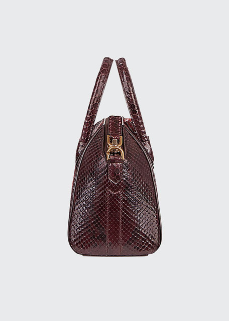 Antigona Mini Shiny Python Satchel Bag