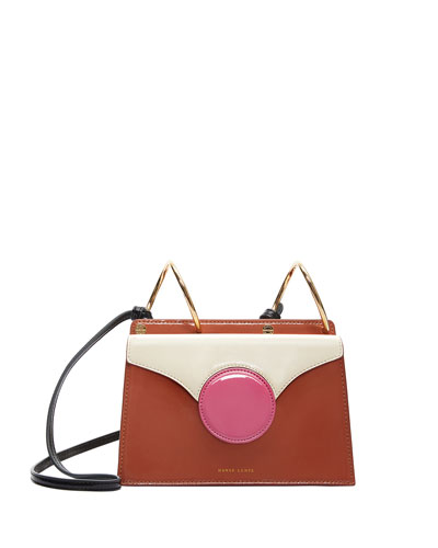 Mini Phoebe Colorblock Shoulder Bag  Brown/Pink