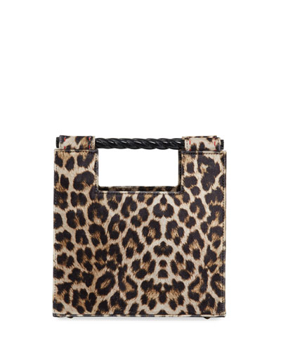 Velvet Leopard Unicorn Top Handle Bag
