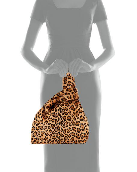 Furrissima Baby Leopard Goat Fur Tote Bag