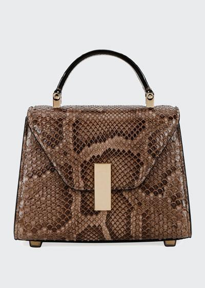 Micro Iside Python Top Handle Bag