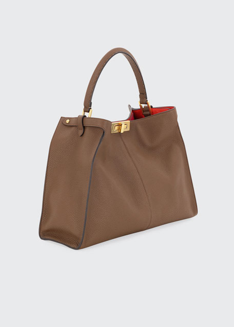 Peekaboo X-Lite Calf Satchel Bag