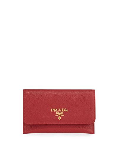 Saffiano Flap Wallet