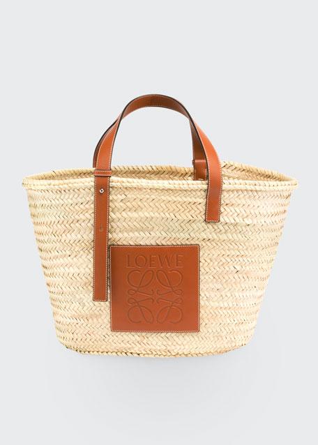 Raffia Basket Tote Bag