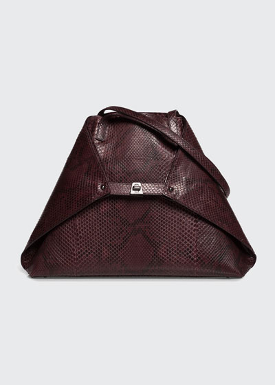 AI Medium Soft Python Shoulder Bag
