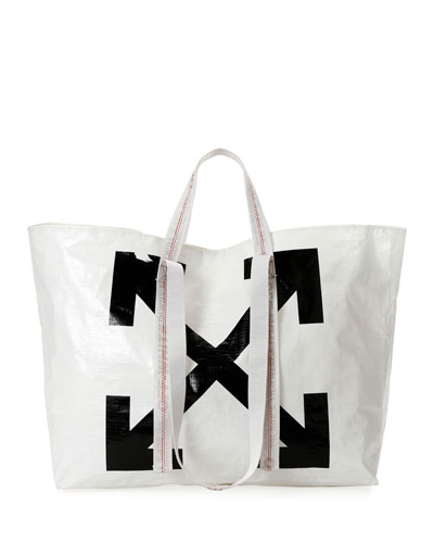 New Commercial Tote Bag  White/Black