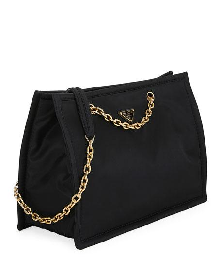45f1a14d32cf92 Prada Tessuto Chain Shopper Tote Bag