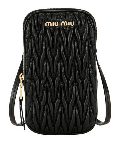 Matelasse Phone Crossbody Bag