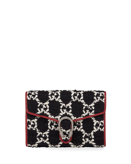 Gucci Dionysus GG Tweed Wallet on Chain with