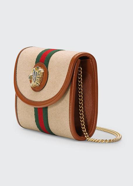 bc89a0c4c09d58 Gucci Rajah Mini Canvas Crossbody Bag