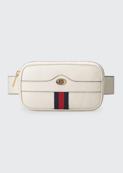 Ophidia Leather Belt Bag