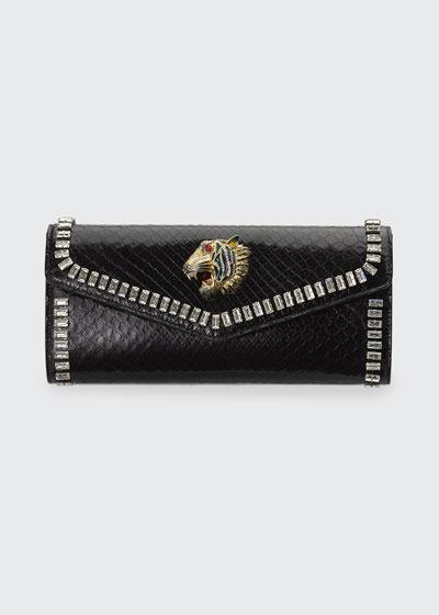 Broadway Python Clutch Bag