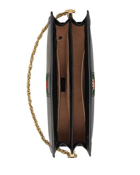 Ophidia Medium Leather Shoulder Bag