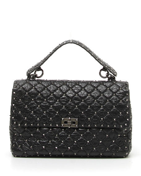 Rockstud Spike Large Lamb Leather Shoulder Bag